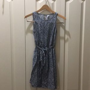Old Navy Blue Floral Cotton Dress